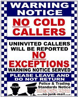 Buy No Cold Caller Signs No Cold Calling Vinyl Decal